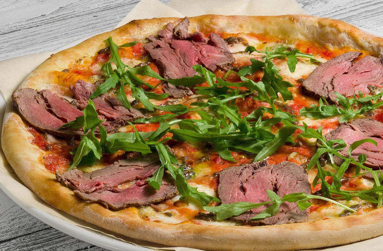 Пицца с ростбифом 30 см