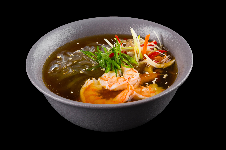 Устричный суп с креветками