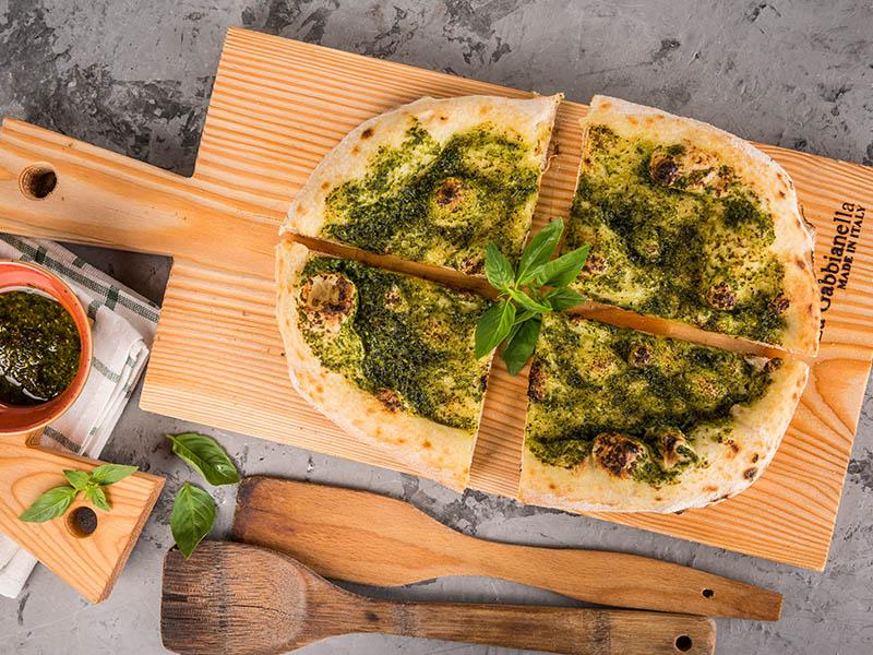 Focaccino pesto e aglio