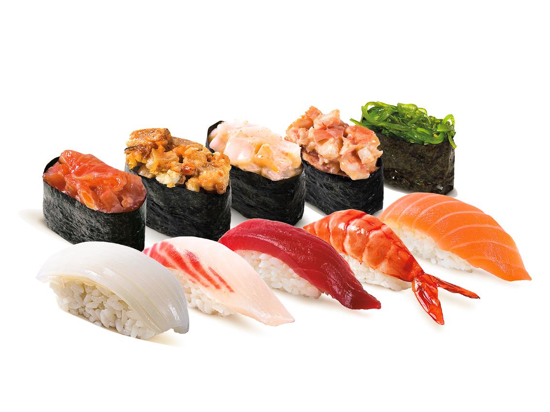 Суши + Спайс суши сет 10