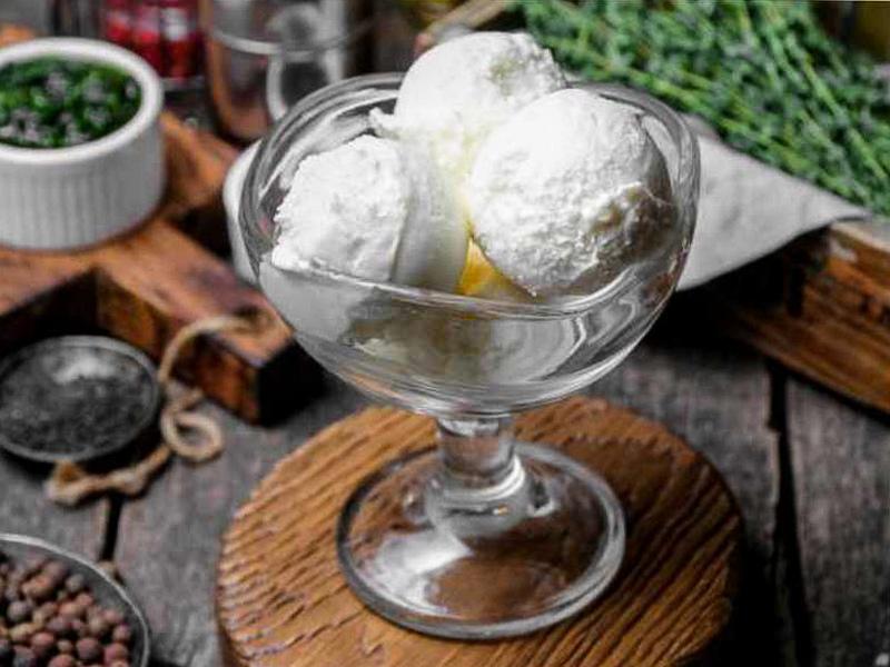 Домашнее мороженое Сырное