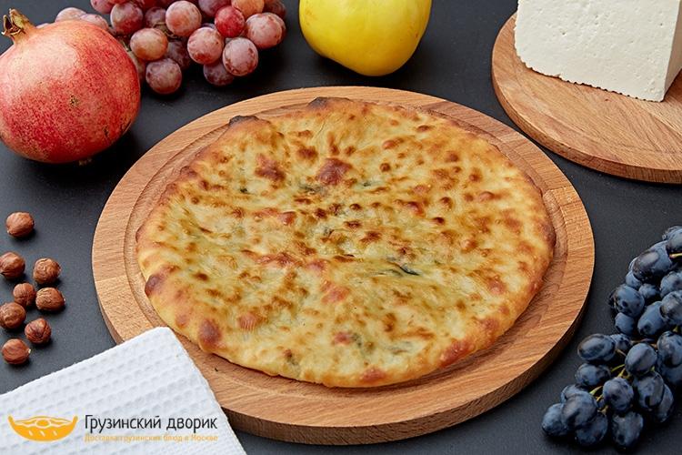 Хачапури со шпинатом и сыром