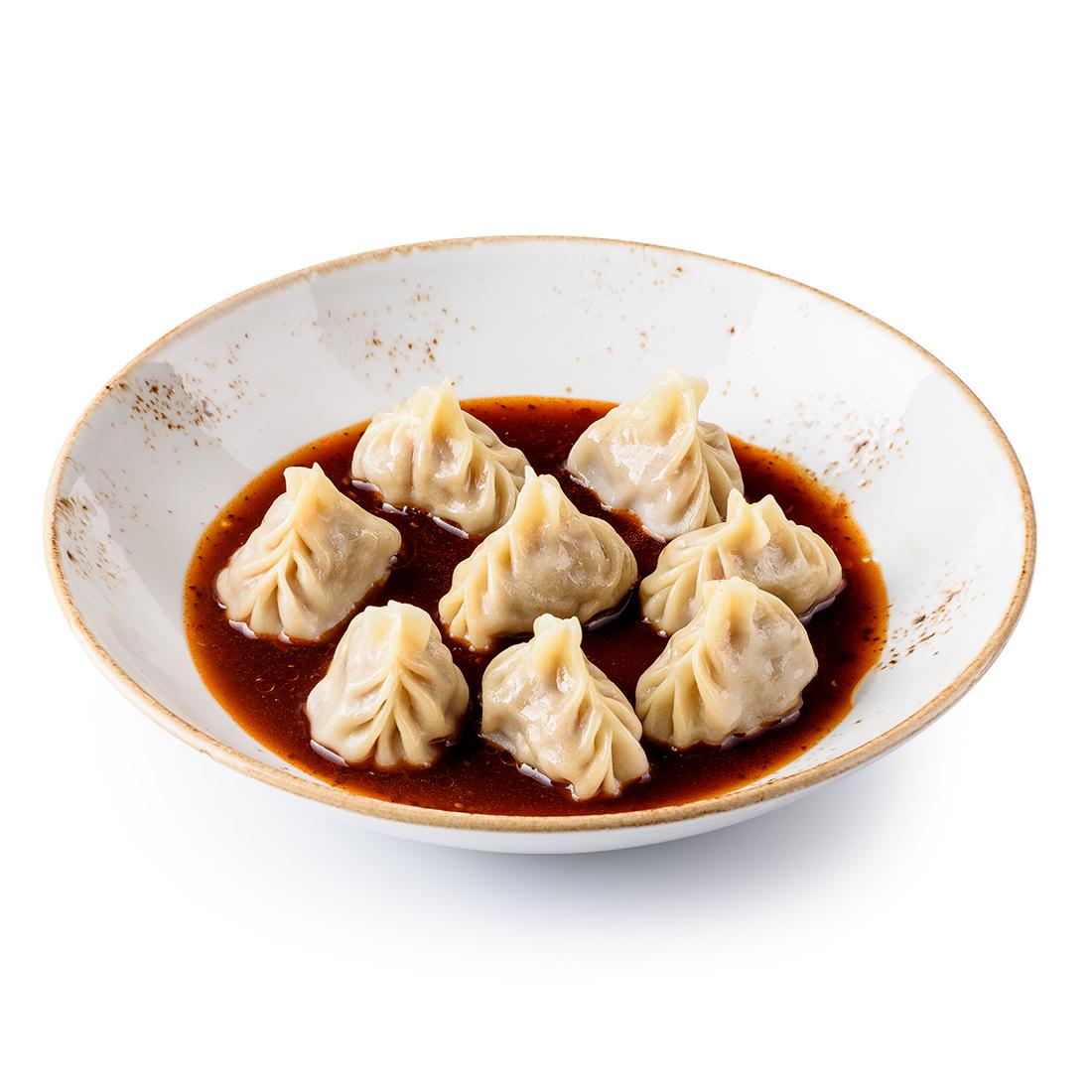 Вонтоны с ягненком в китайском соусе (8 шт)