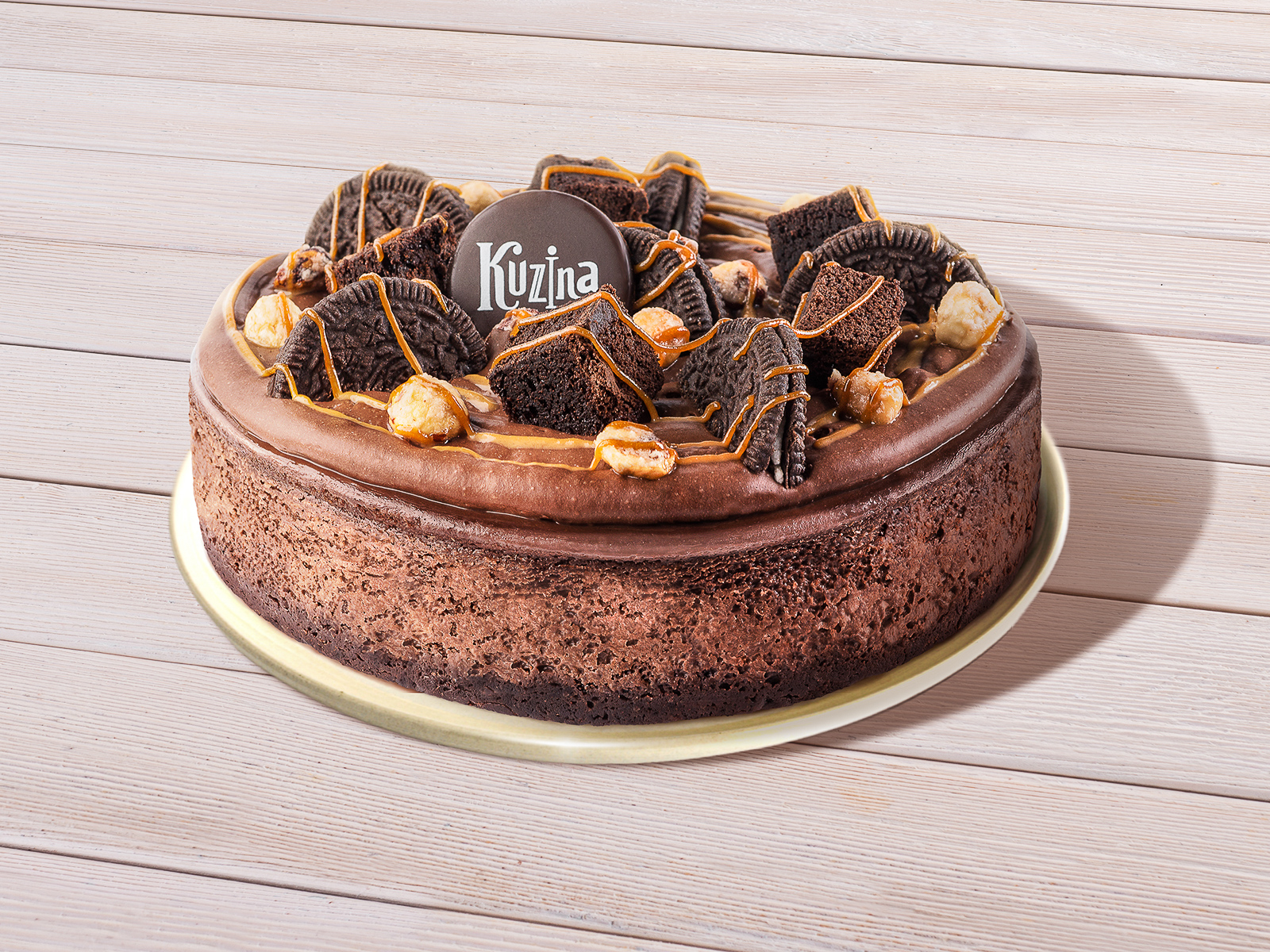 Чизкейк Нью-йорк шоколадный с орехом