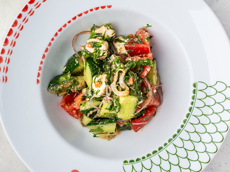 Грузинский салат с брынзой