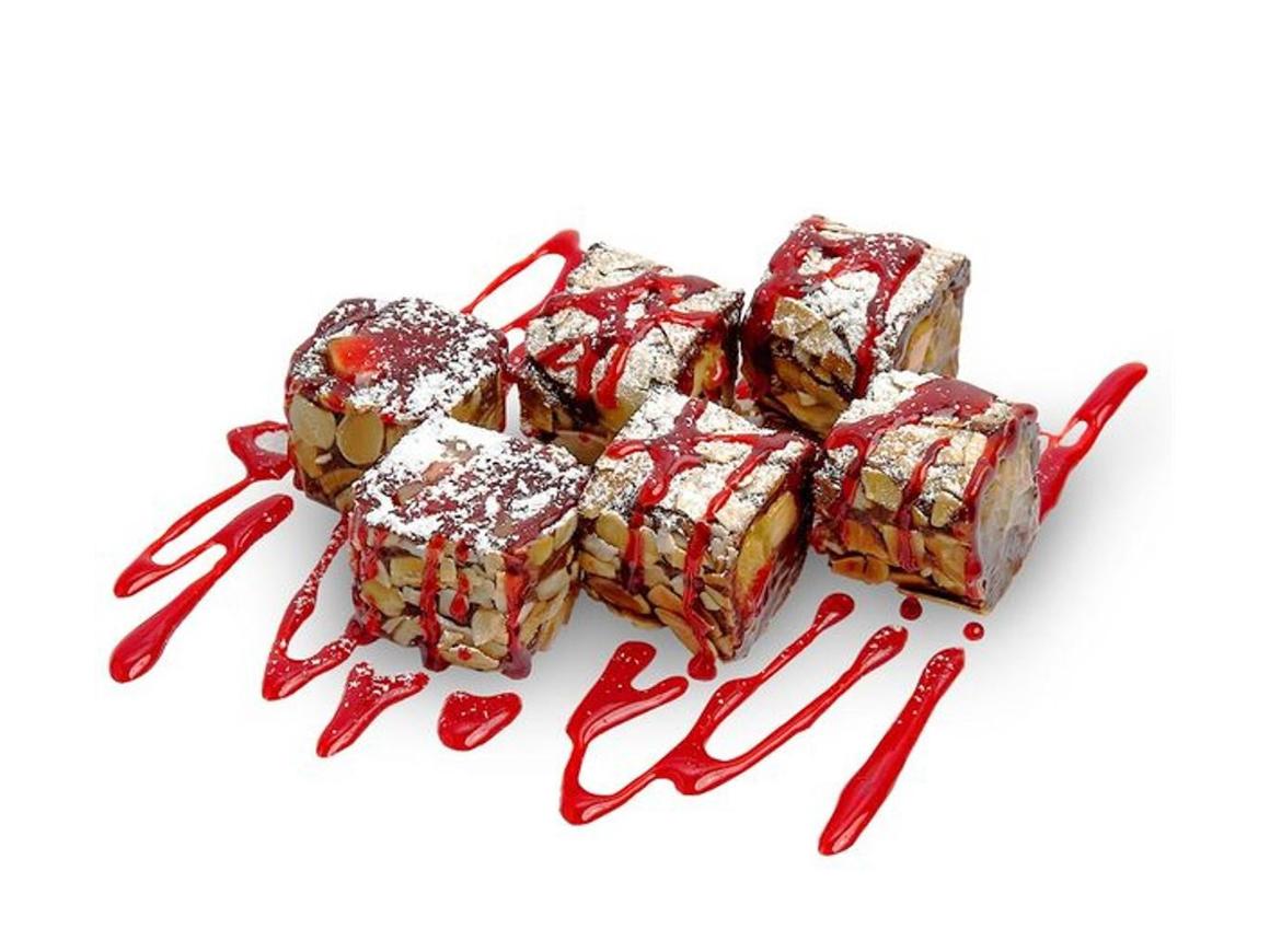 Шоколадно-фруктовый десерт