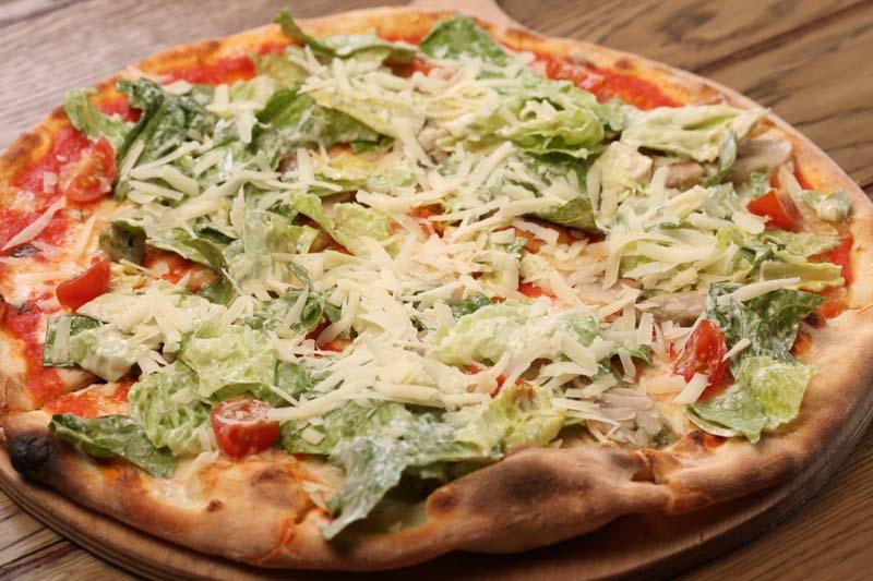 Пицца Цезарь с цыпленком