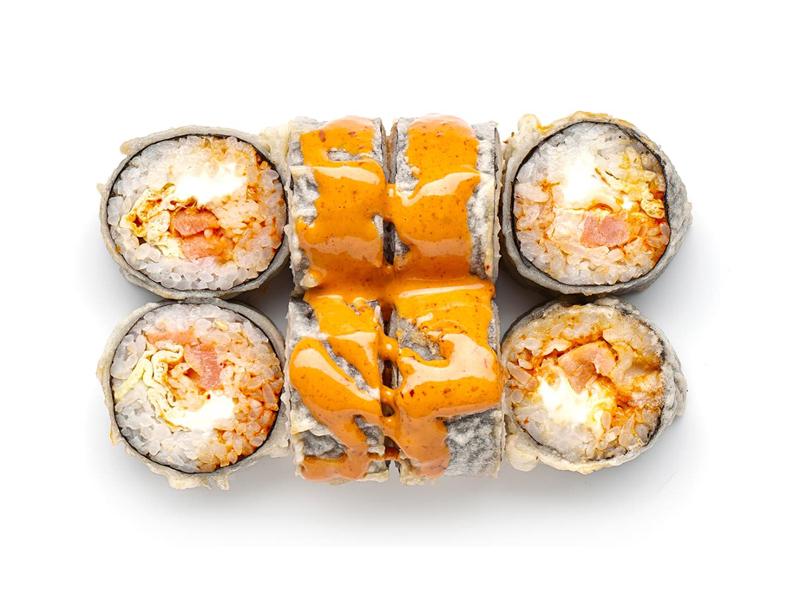 Ролл Ацуи с лососем