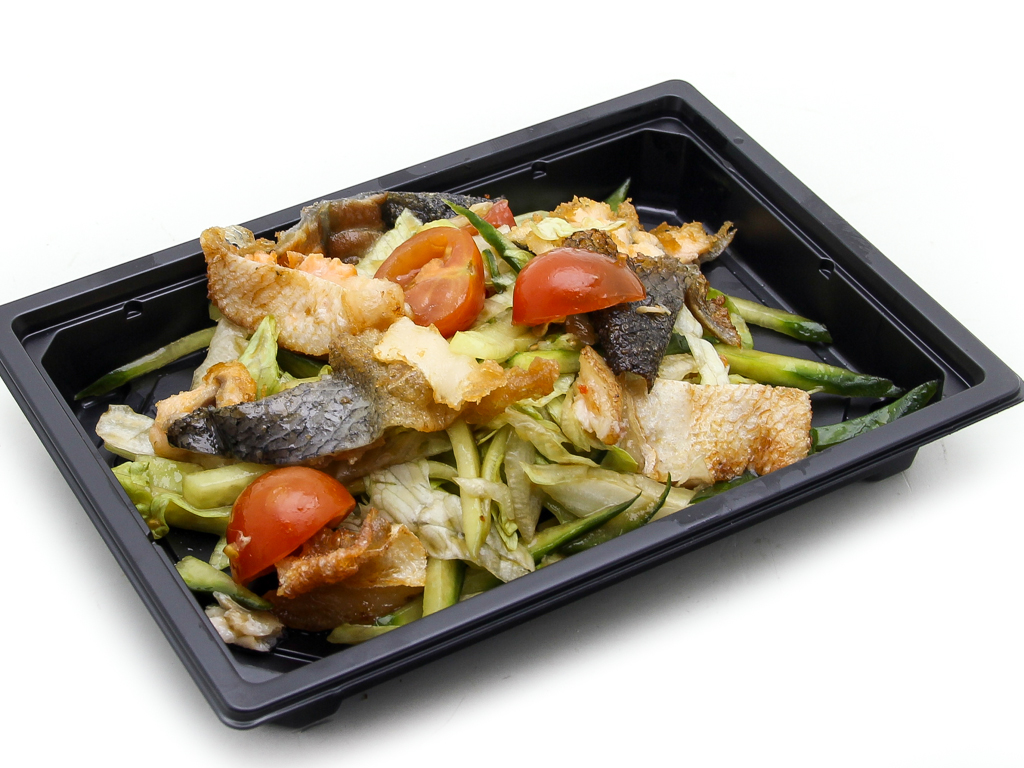 Салат с соусом терияки