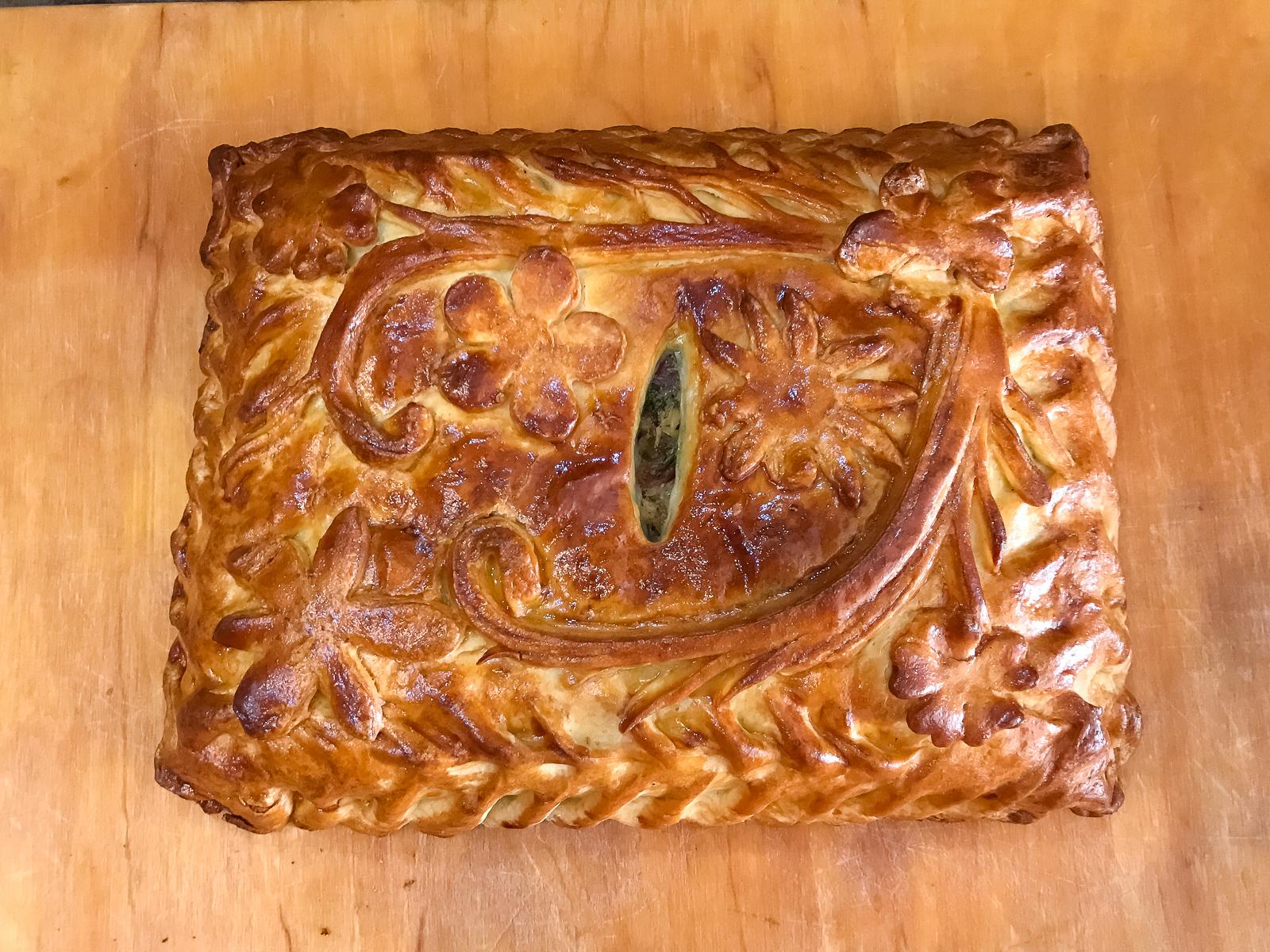Пирог с индейкой и беконом