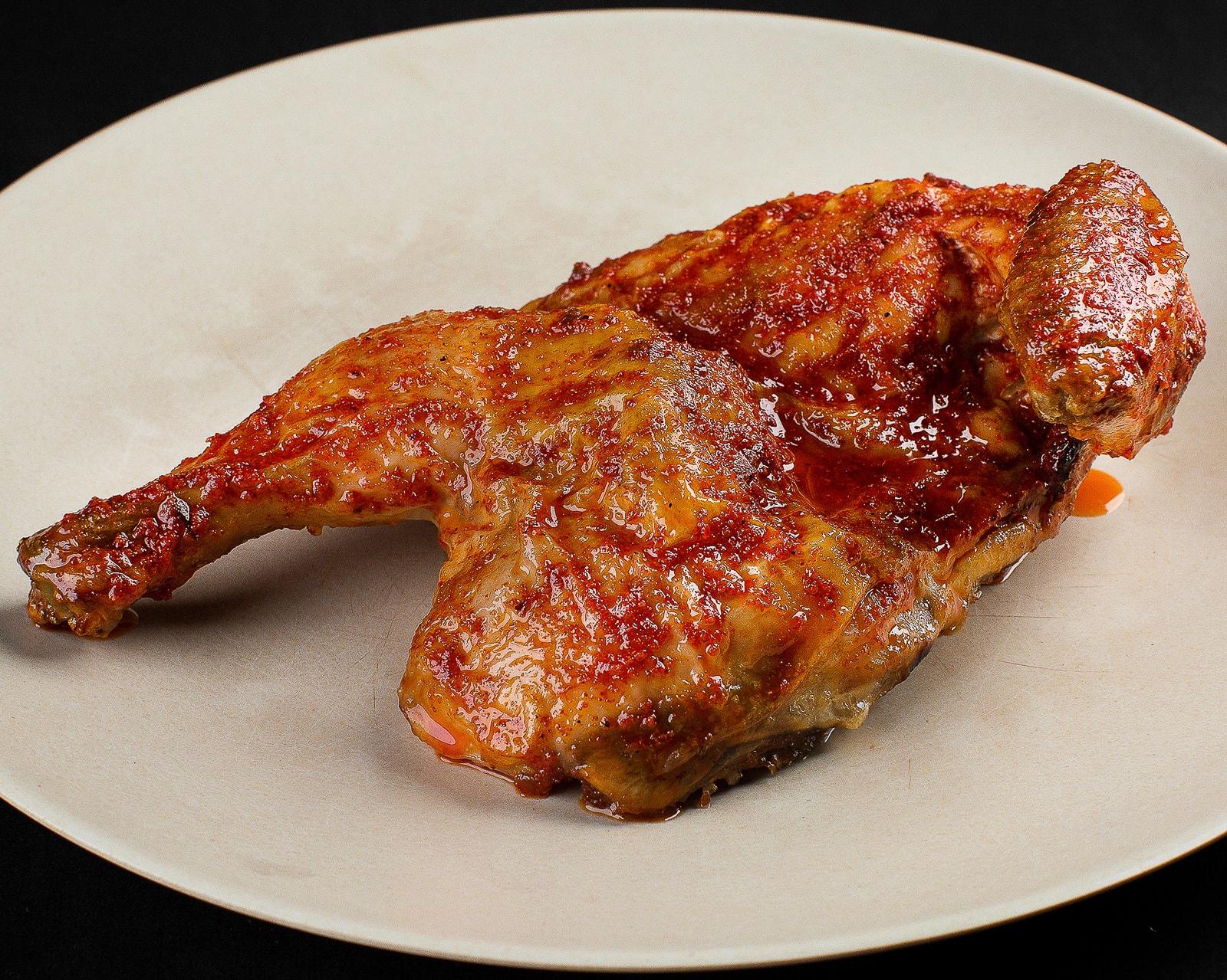 Половина курицы по-мегрельски