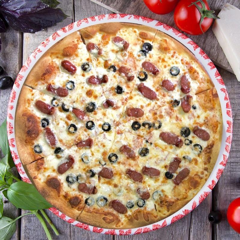 Пицца с Охотничьей колбаской