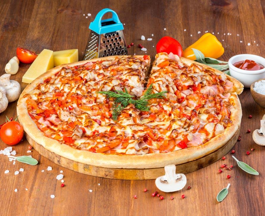 Пицца 2 берега с двойной начинкой