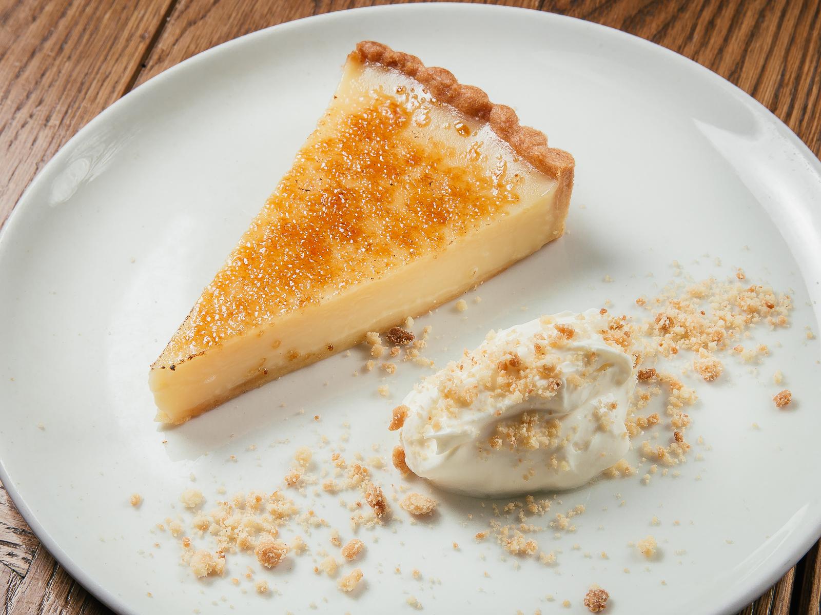 Лимонный тарт с домашним крем-фрешем