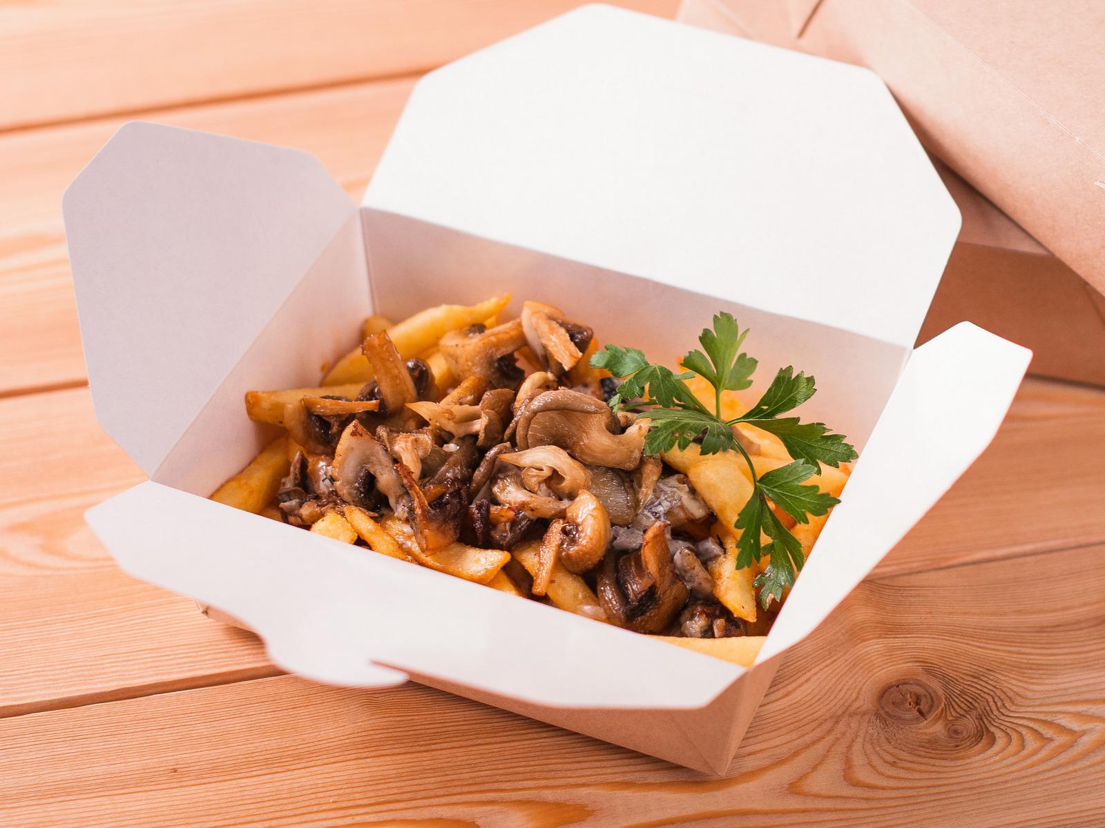 Картофель фри с грибами