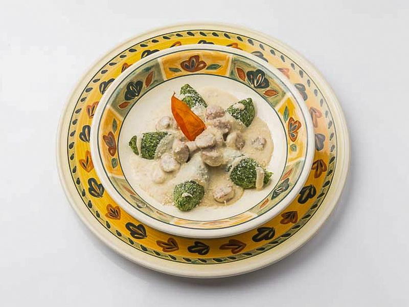 Rabatun al gorgonzola e salsiccia