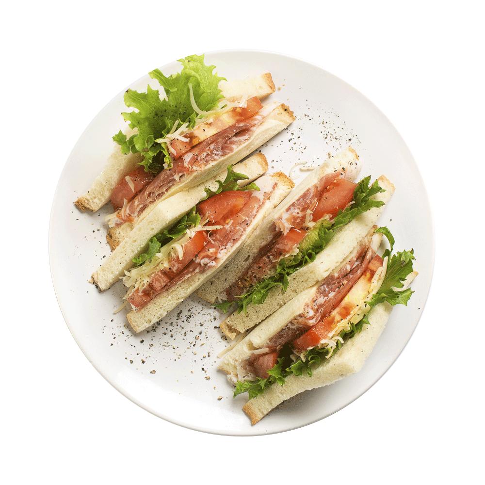 Клаб сэндвич с ветчиной и сыром