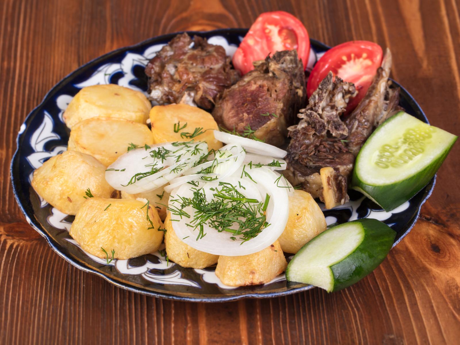 Казан-кебаб с бараниной