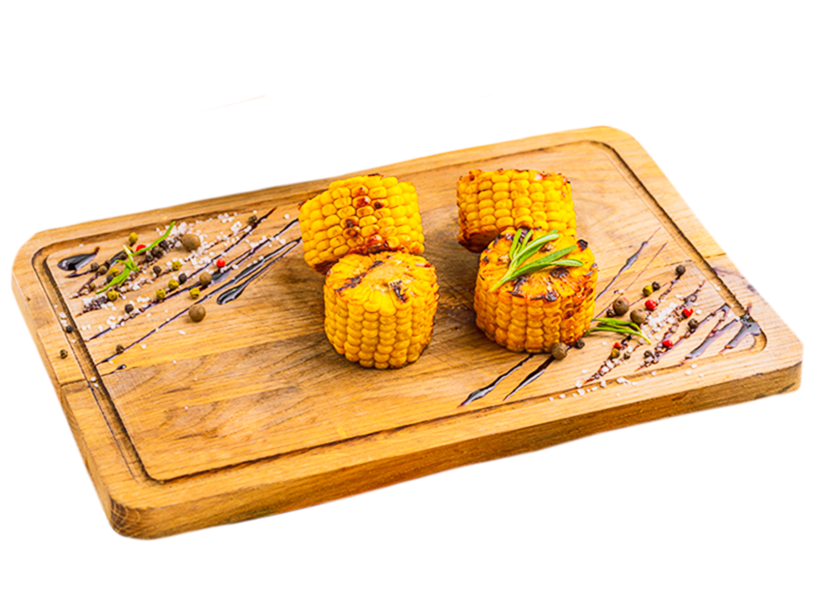 Кукуруза гриль с чесноком и зеленым луком