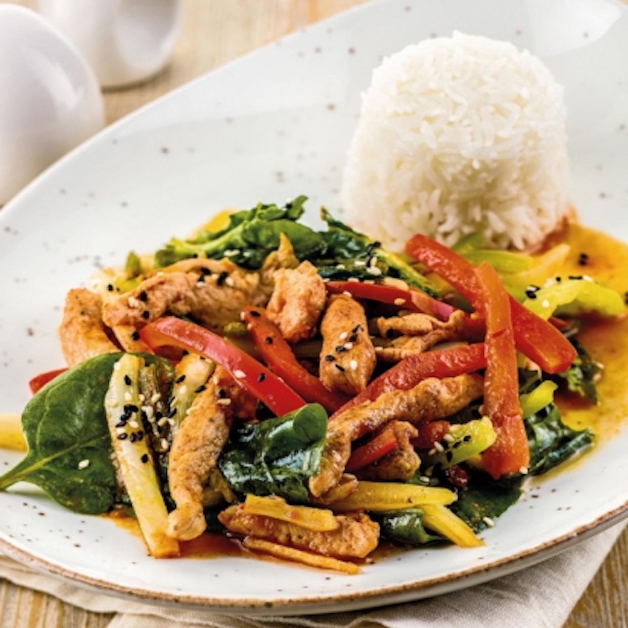 Филе цыпленка с овощами