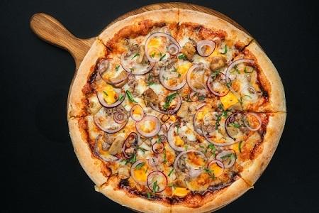 Пицца bbq (пышное тесто)