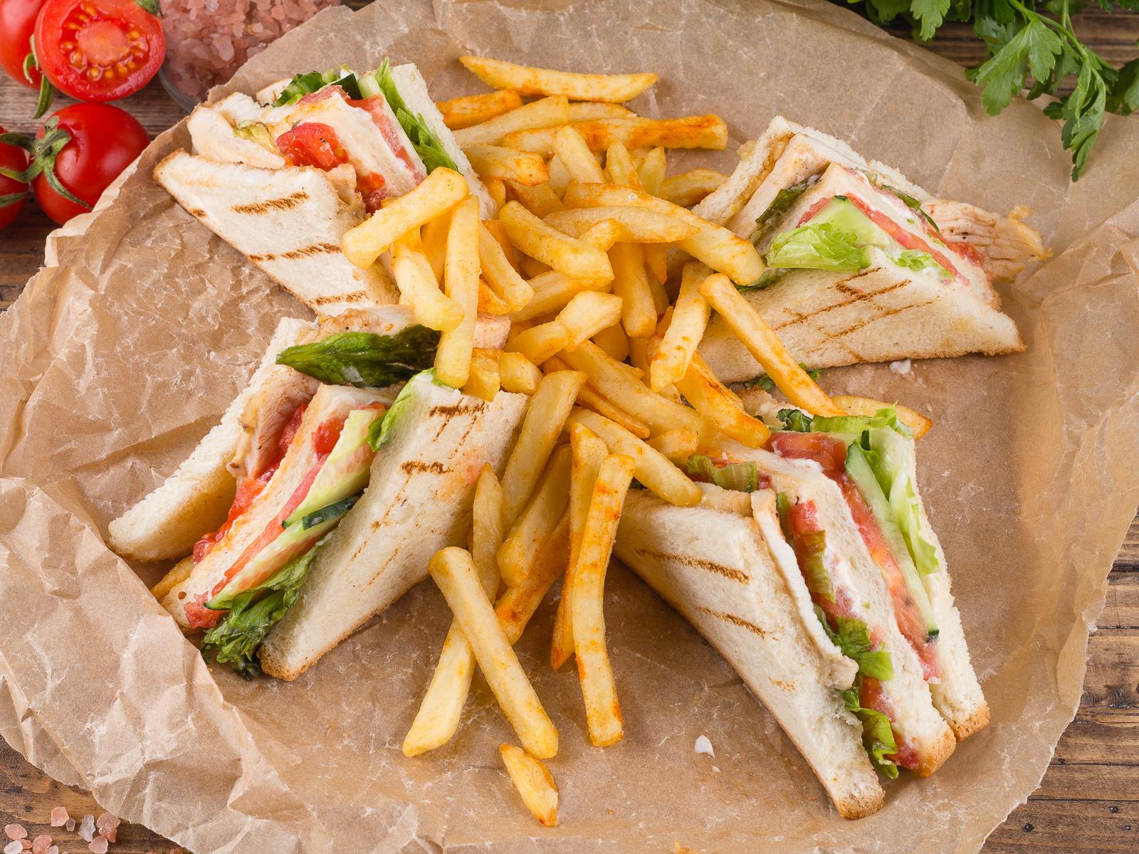 Сендвич с картофелем Фри
