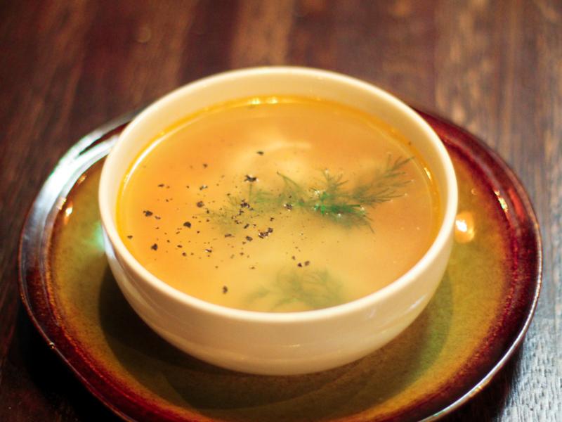 Куриный суп с домашней лапшой