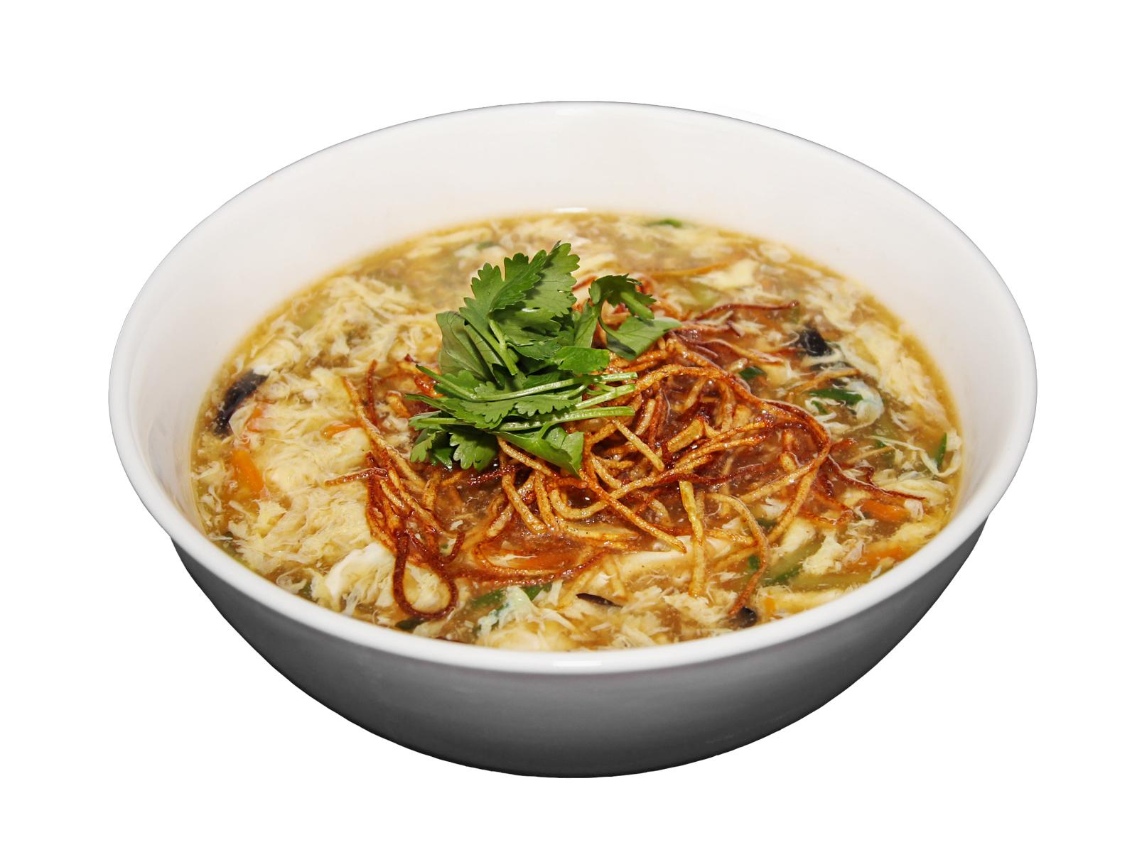 Традиционный китайский овощной суп с чёрными грибами Муэр