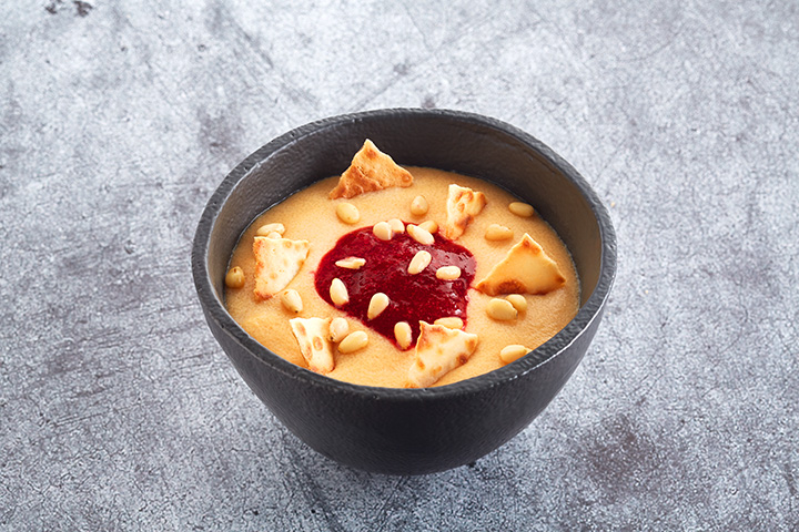 Десерт гурьевский с брусникой и орешками