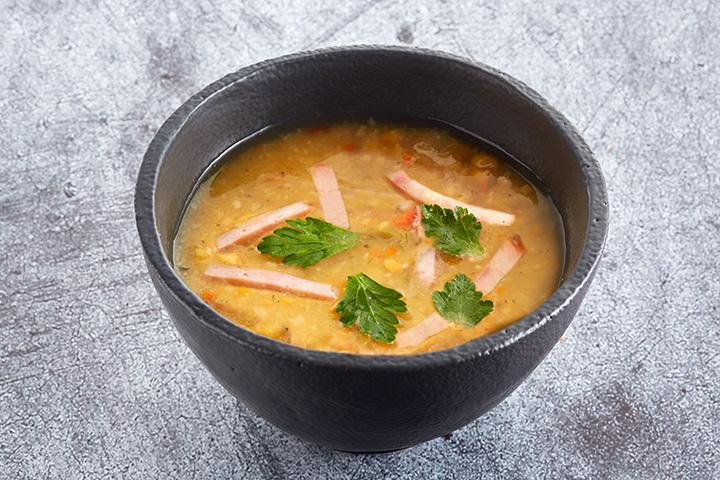 Суп гороховый с копчёностями двойная порция