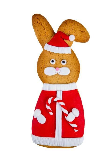 Печенье Имбирный Заяц Дед Мороз