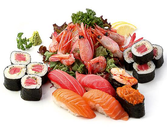 Ассорти суши, сашими, роллы А