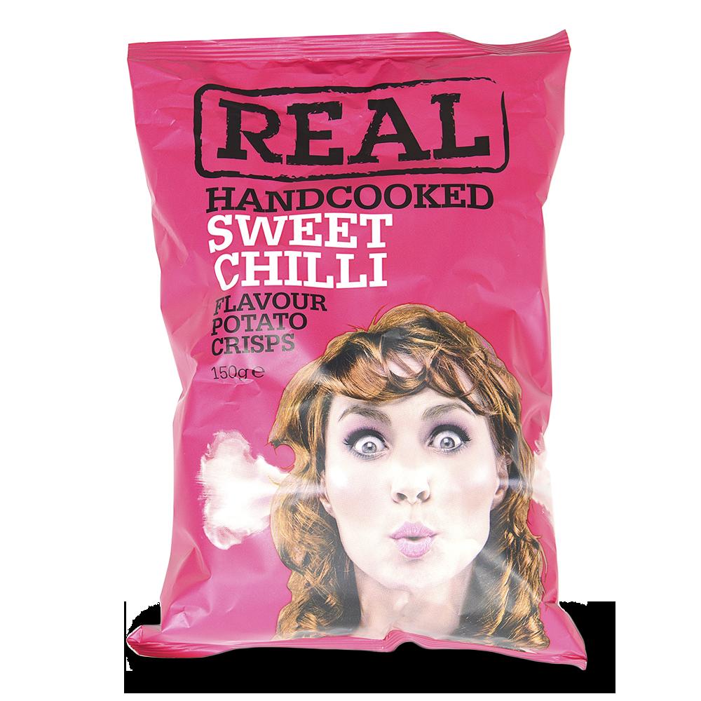 Чипсы картофельные Real со сладким перцем Чили Real Crisps Limited