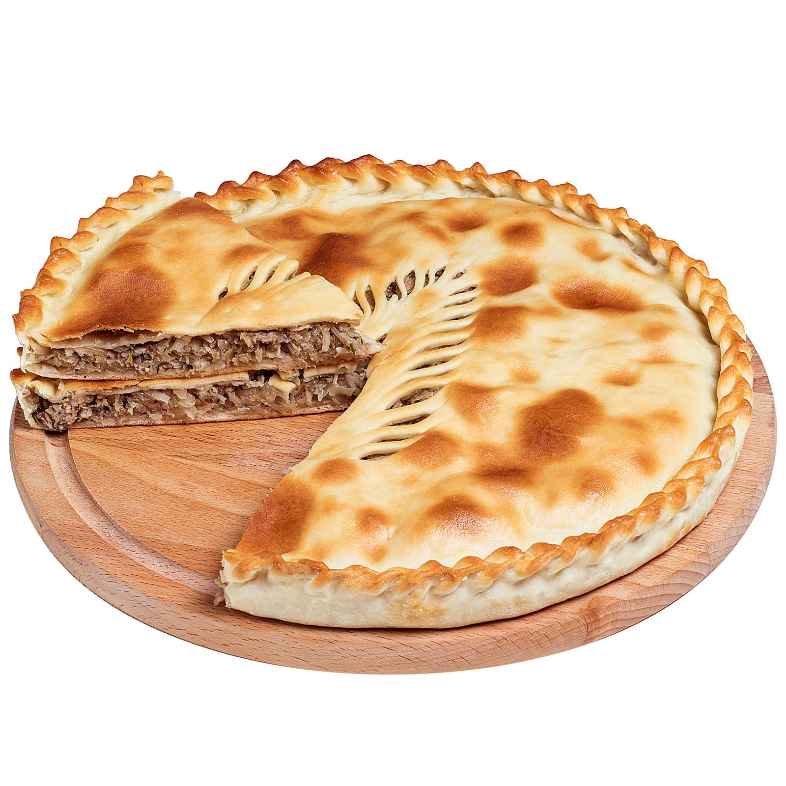 Пирог осетинский с мясом и капустой