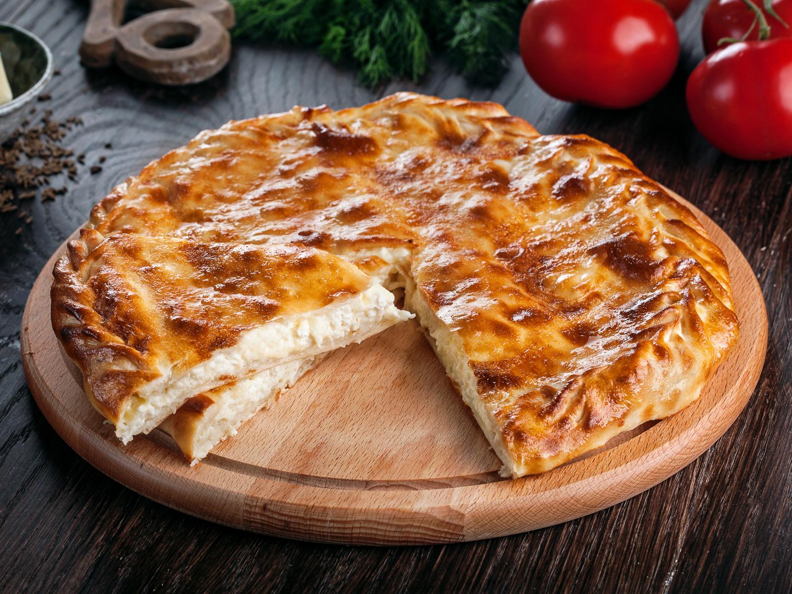 Дагестанский пирог с сыром и творогом
