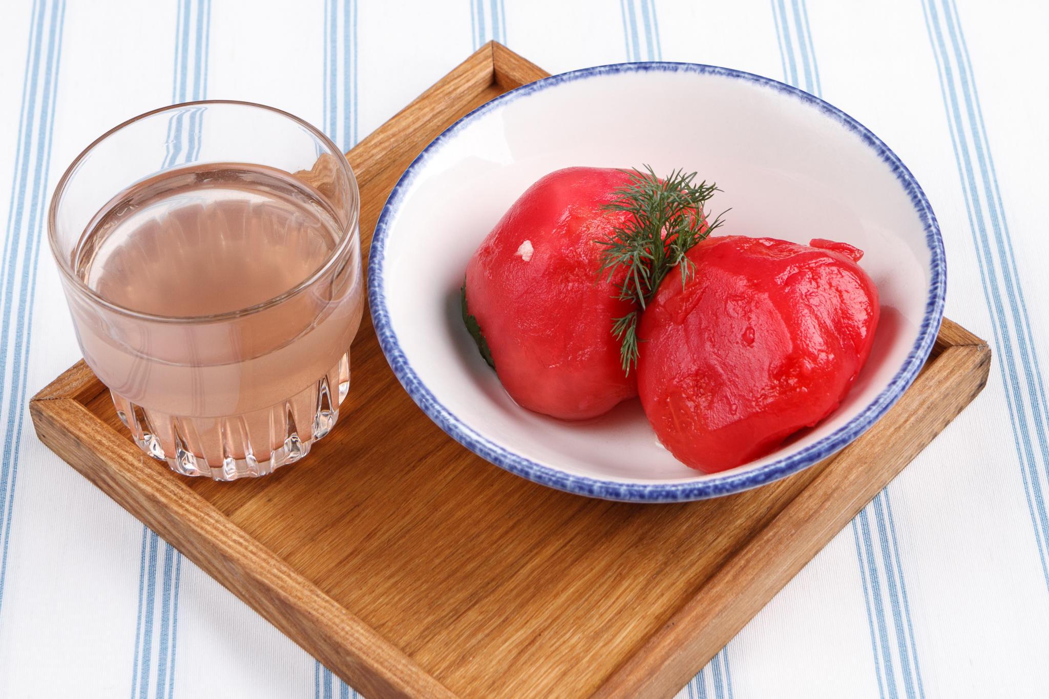 Трёхдневные помидоры в свежем маринаде