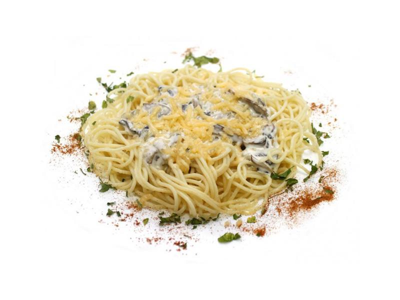 Спагетти Сытно-сырные