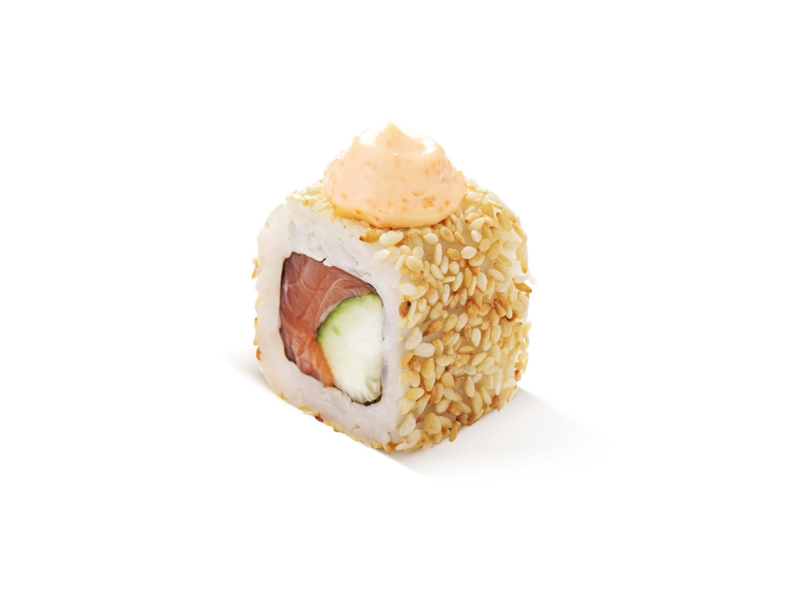 Ролл Хот с лососем