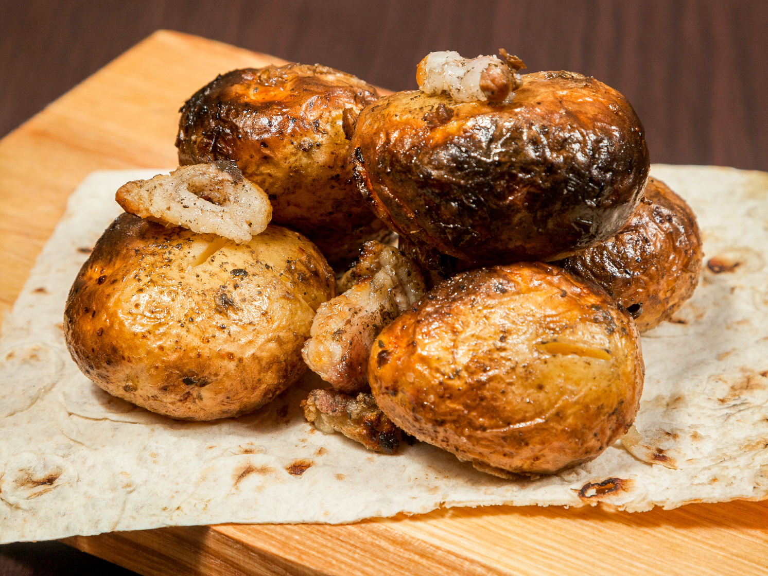 Картошка с курдюком