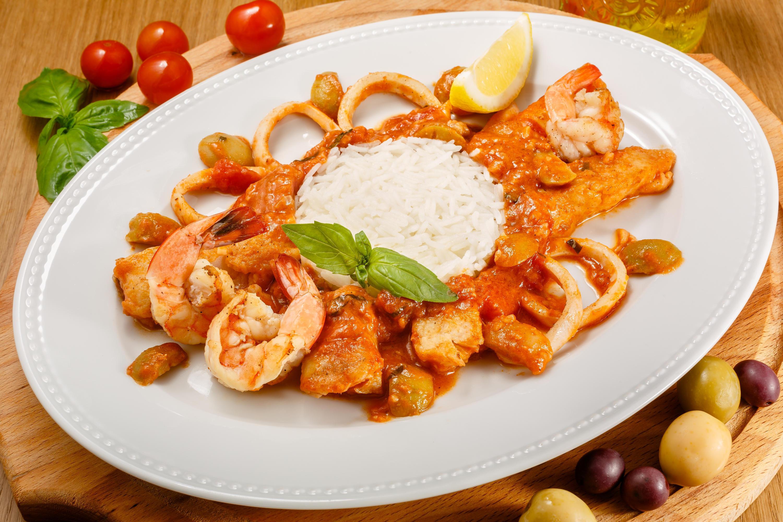 Грильятта из морепродуктов и рыбы