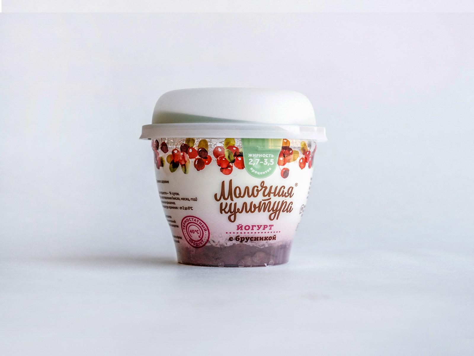 Йогурт Молочная Культура с брусникой
