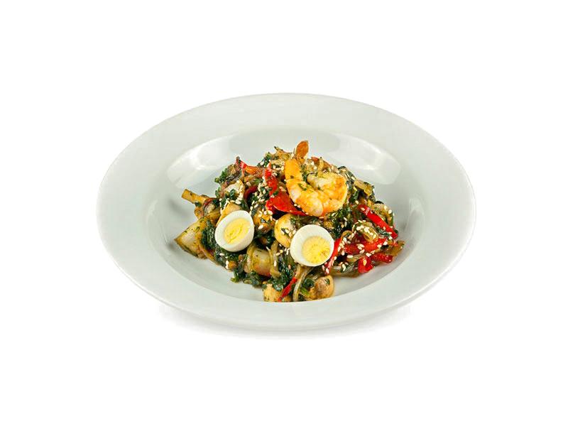 Теплый салат Морской