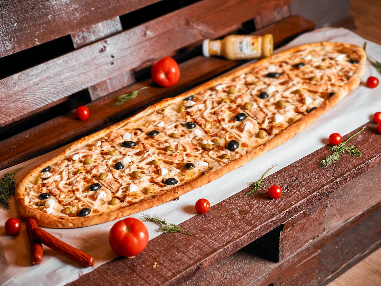 Пицца Четыре океана метровая