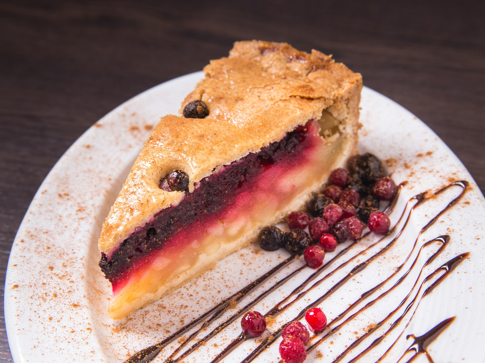 Пирог Яблочный с черной смородиной