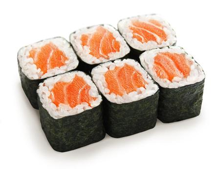 Острый ролл с лососем