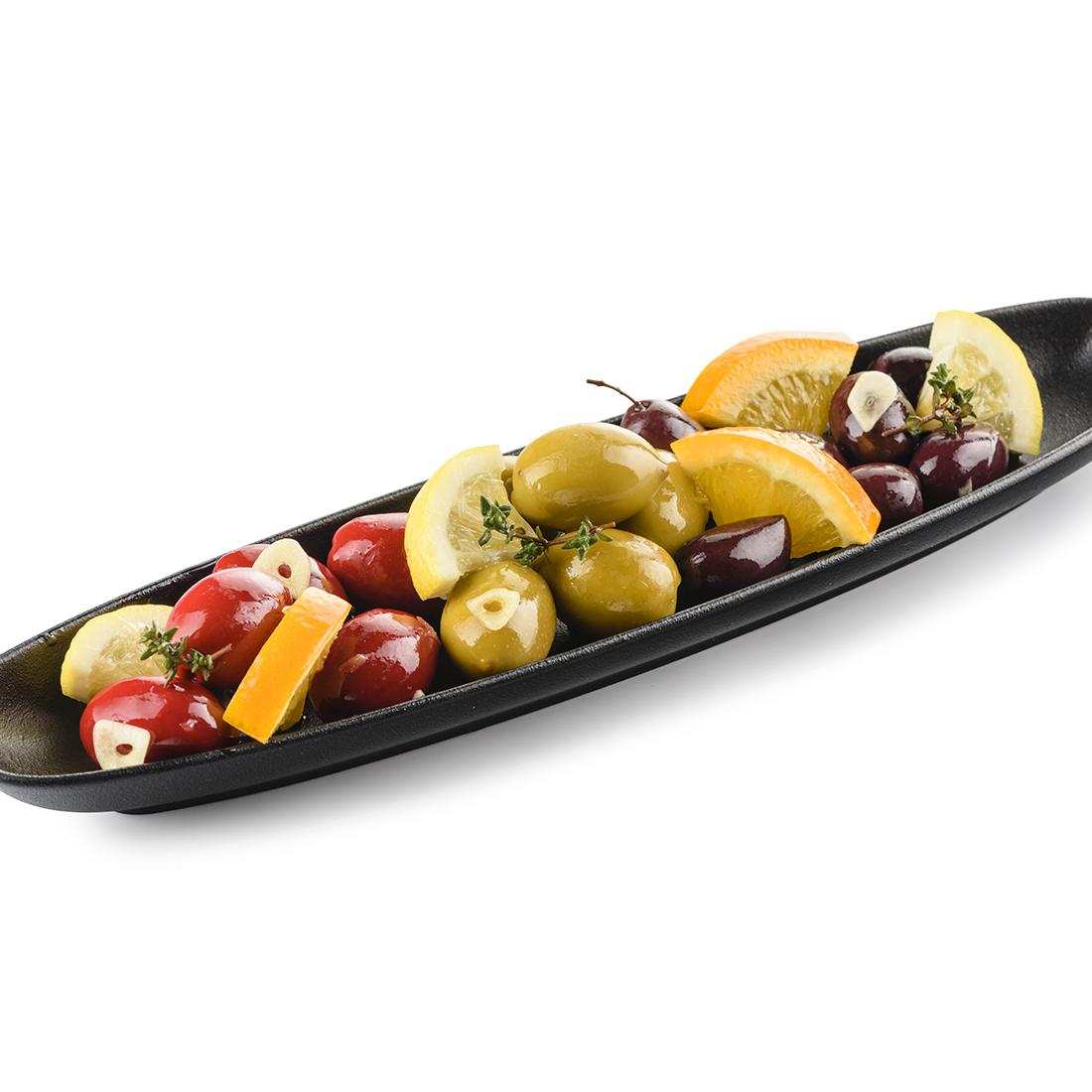 Ассорти оливок, маринованных в ароматном масле