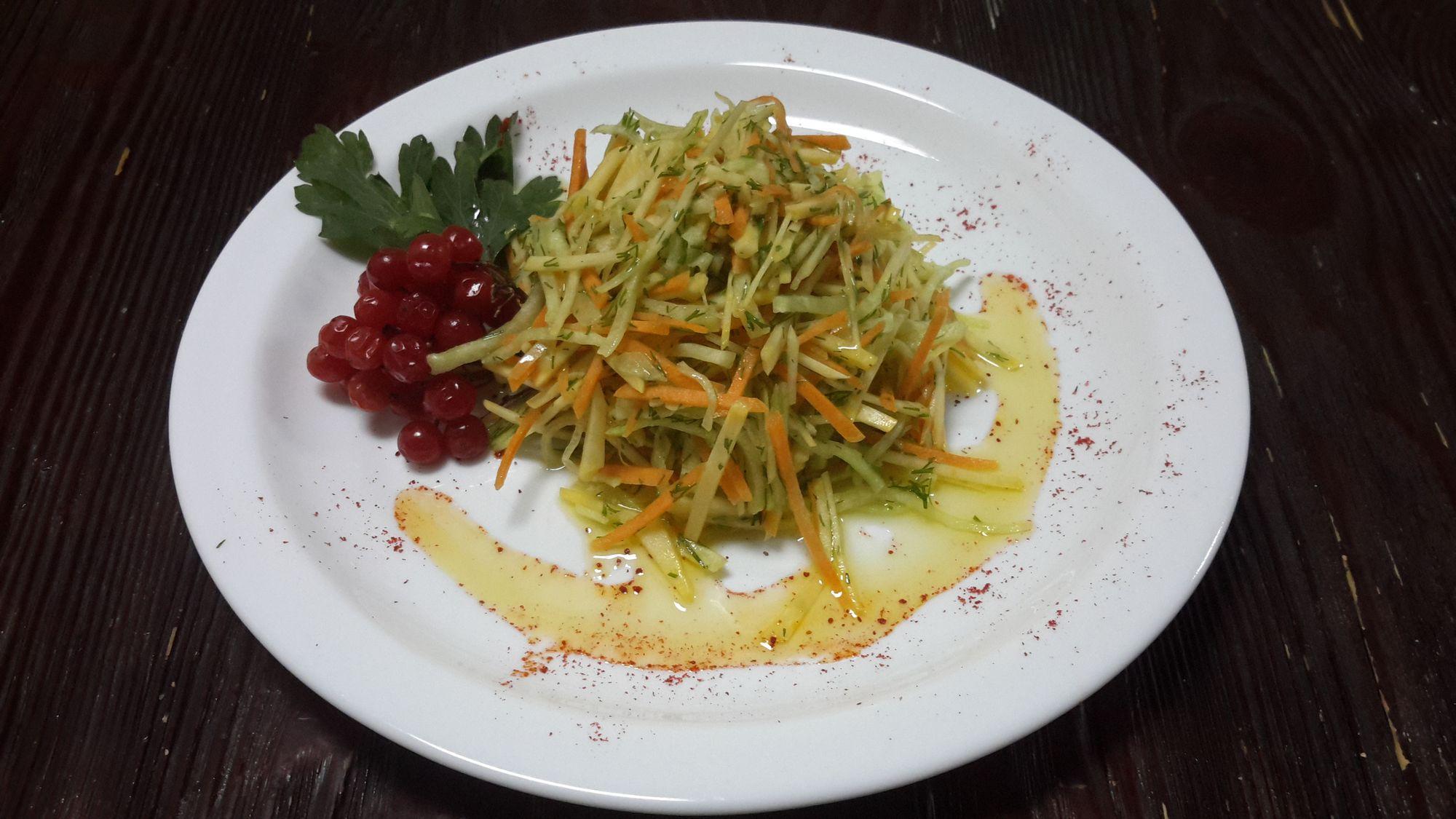 Салат из репы и редьки