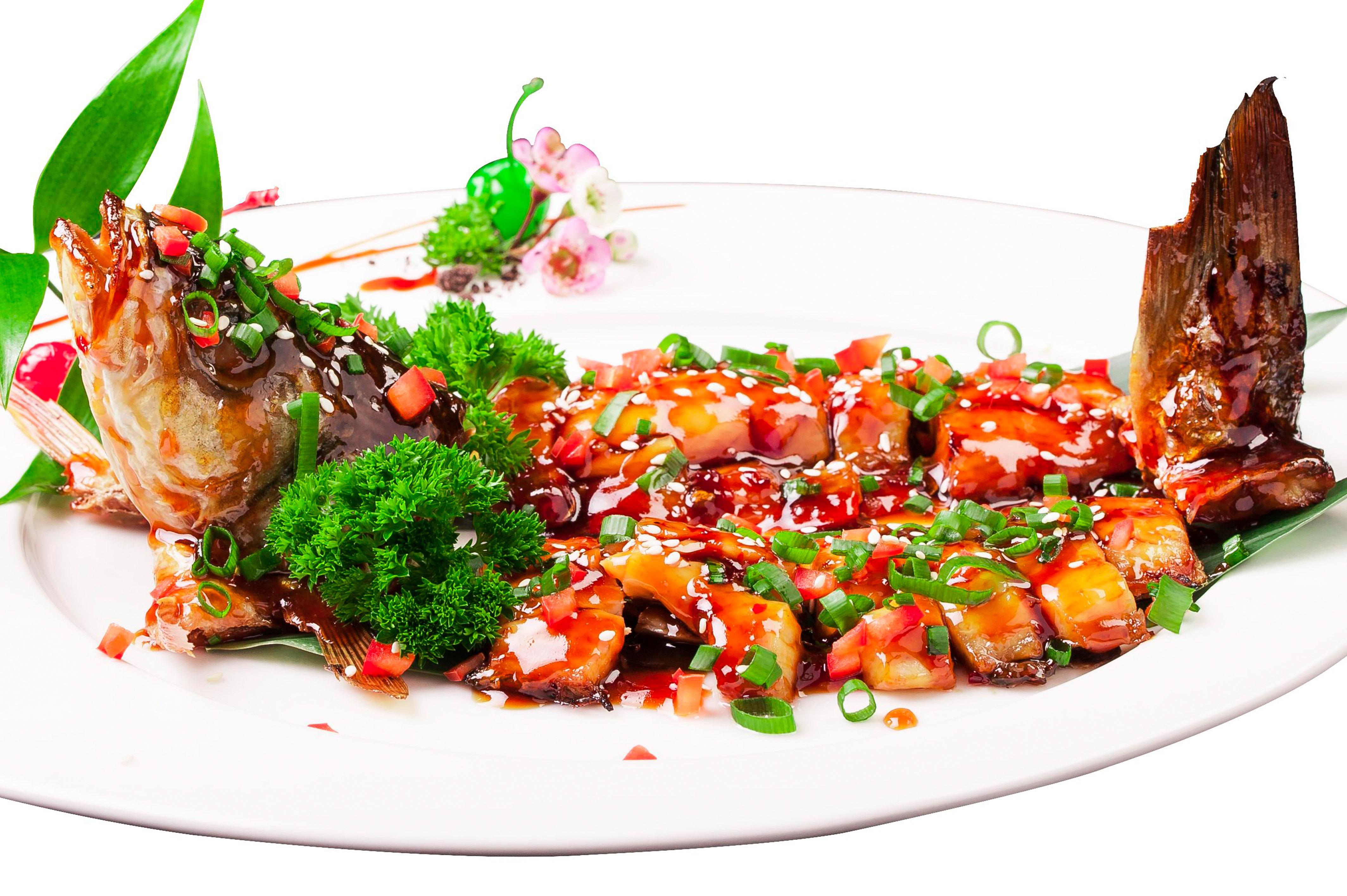 Сибас в устричном соусе