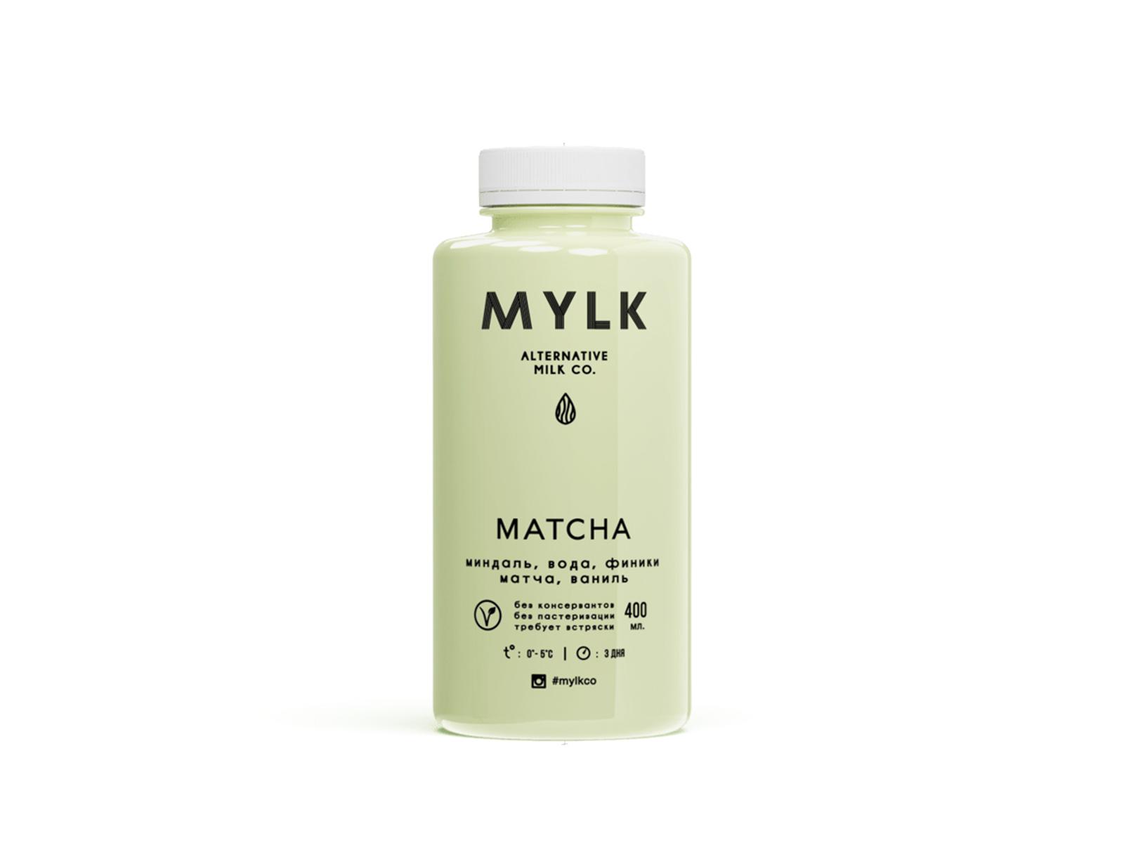 Миндальное молоко с MATCHA