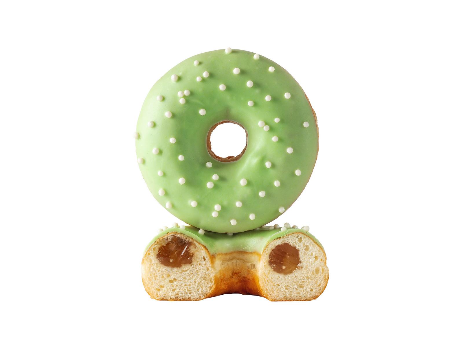 Яблоко-корица пончик